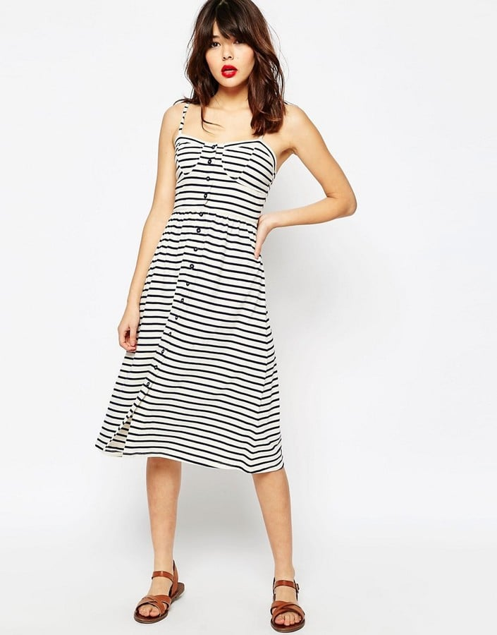 61d9b59305a ASOS Midi Sundress In Stripe With Button Front ( 46)