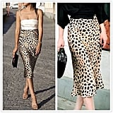 The Noble Collection Leopard Printed Satin Skirt