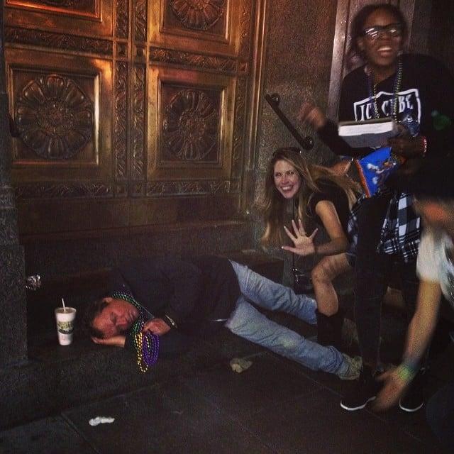 Some people fell asleep on sidewalks.