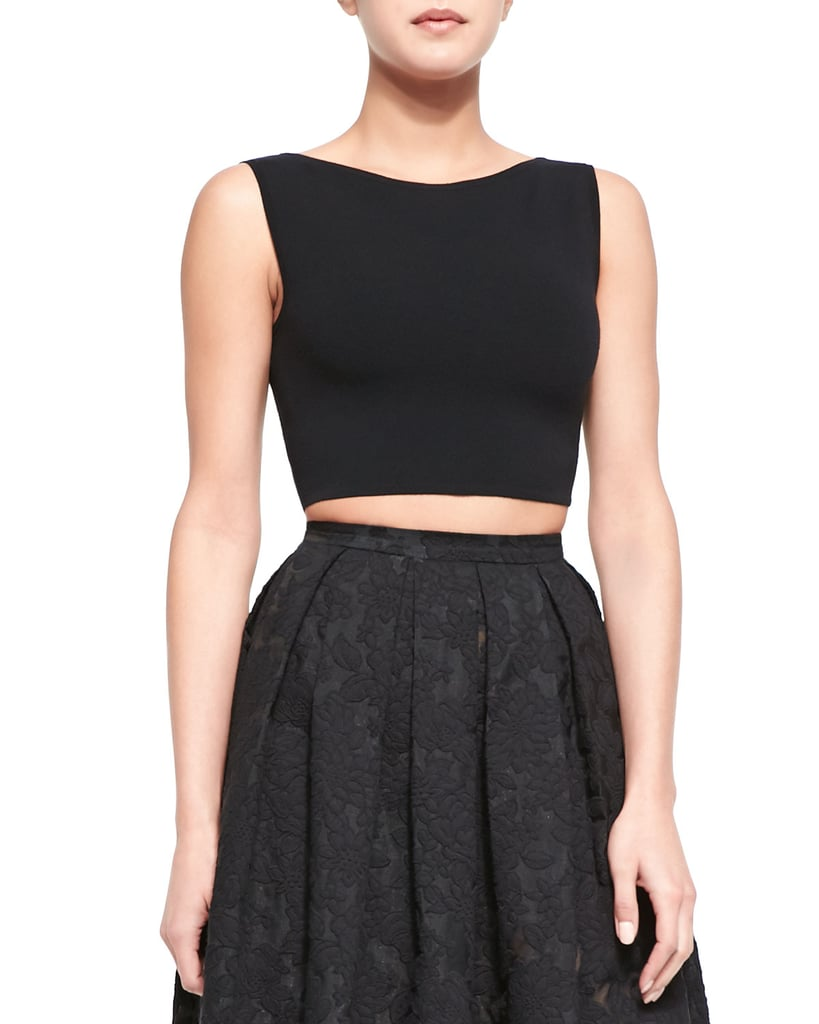 Michael Kors Sleeveless Knit Crop Top, Black ($395)