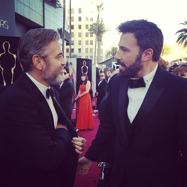 George Clooney and Ben Affleck shared a moment on the red
