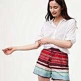 LOFT Cabana Fluid Drawstring Shorts