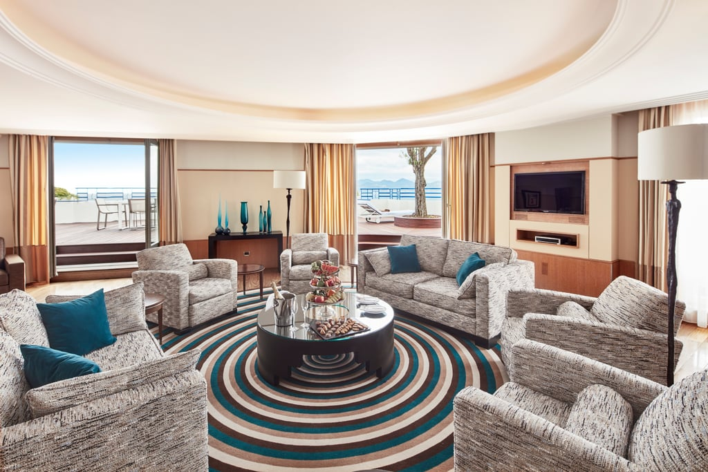 Penthouse suite at the grand hyatt cannes hotel martinez for Prix chambre martinez cannes
