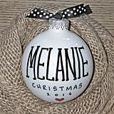 Glass Ball Name Ornament