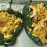 Poblanos Stuffed with Chorizo, Shrimp and Rice