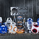 A view of droids that can be built at Droid Depot.