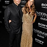 Kate Beckinsale and Len Wiseman were affectionate at the Underworld: Awakening premiere in LA.