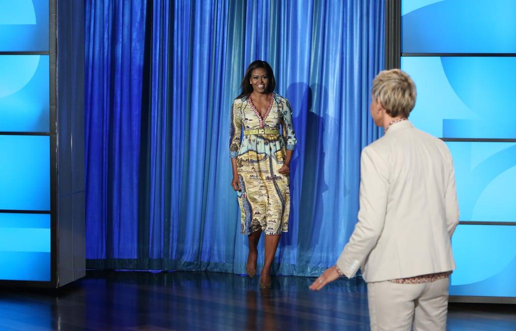 Michelle Obama Gucci Dress on the Ellen Show September 2016