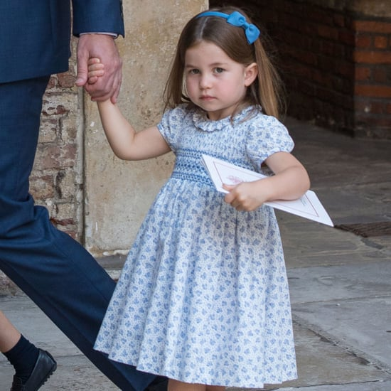 Princess Charlotte Talking to Photographers at Christening