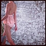 This peachy keen swimsuit from Zimmermann was stupidly good.