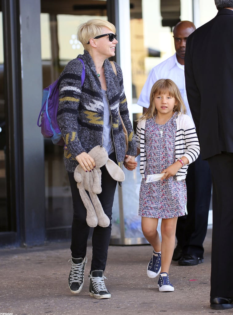 Michelle Williams and Matilda Ledger arrived in NYC together.