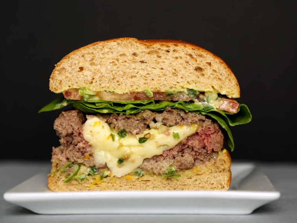 Brie-Stuffed Burger