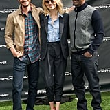 Andrew Garfield, Emma Stone, and Jamie Foxx hung out at a photocall for The Amazing Spider-Man 2 in LA.