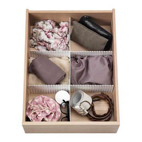 These drawer inserts ($3.99) are so easy to pull off and they instantly make you feel like you're a KonMari expert.