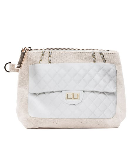 Ok, so you might not splurge on a real Chanel bag, but this Thursday/Friday Diamonds Here Pouchette ($35) makes a cool consolation prize.
