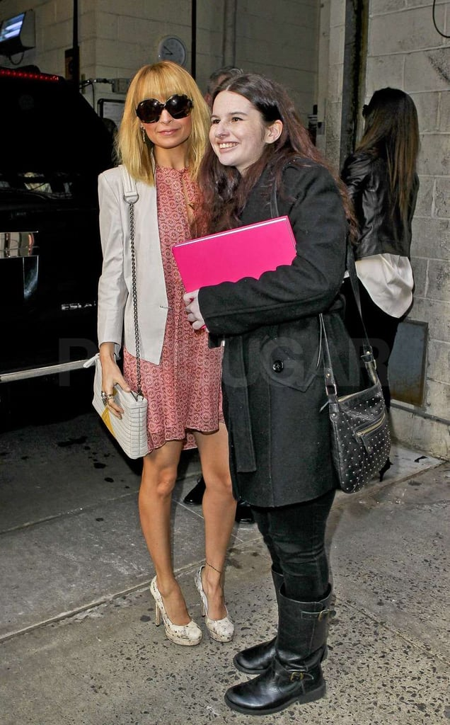 Nicole Richie took a picture with a fan.