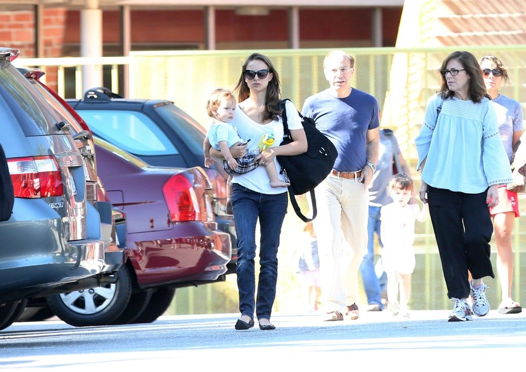 Natalie Portman was spotted in LA with Aleph Millepied.