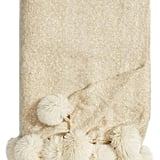 Nordstrom at Home Brushed Throw With Pompoms