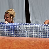 Britney and Jason took Sean and Jayden for a swim while in Mexico in  October 2009.