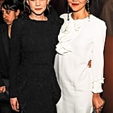 Maggie Gyllenhaal met up with Carey Mulligan at the party. Source: Billy Farrell/BFAnyc.com
