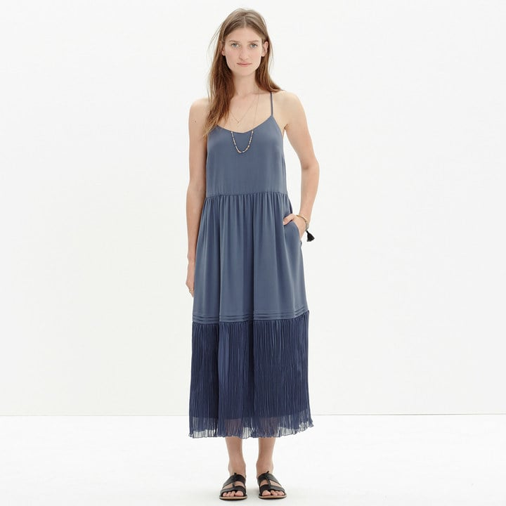 Madewell Crinkle-Hem Slip Dress