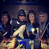 Chrissy Teigen had fun with friends at Medieval Times. Source: Instagram user chrissyteigen