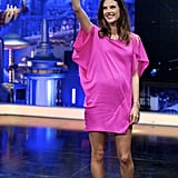 Alessandra Ambrosio's Hot-Pink Dress