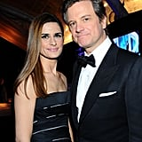 Livia Giuggioli and Colin Firth at the Golden Globes.
