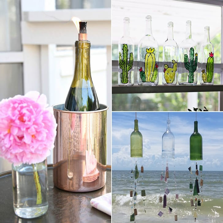 Old wine bottle decorating ideas popsugar home - How to decorate old bottles ...