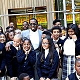 Diddy Opens Charter School in Harlem August 2016