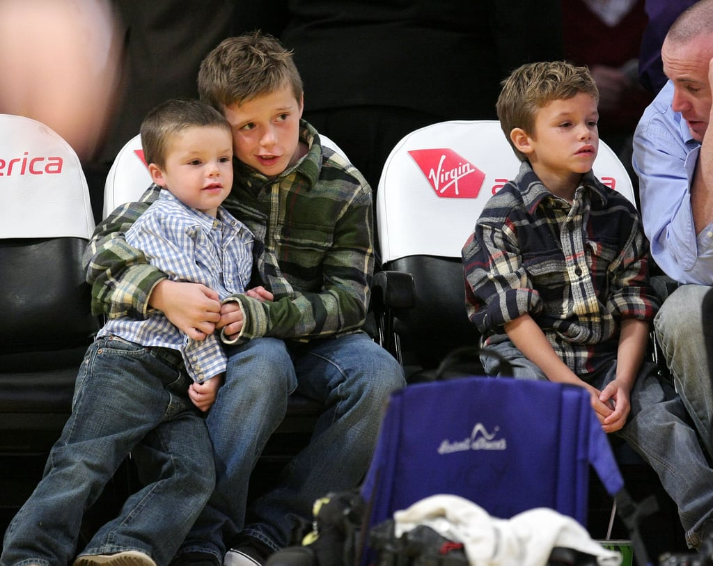 Brooklyn cuddled up to Cruz courtside during an LA Lakers game back in November 2008.