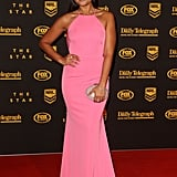 Jessica Mauboy in Alex Perry at the 2013 Dally M Awards