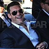 Ryan Seacrest on his way to Ryan Kavanaugh's wedding in Capri.