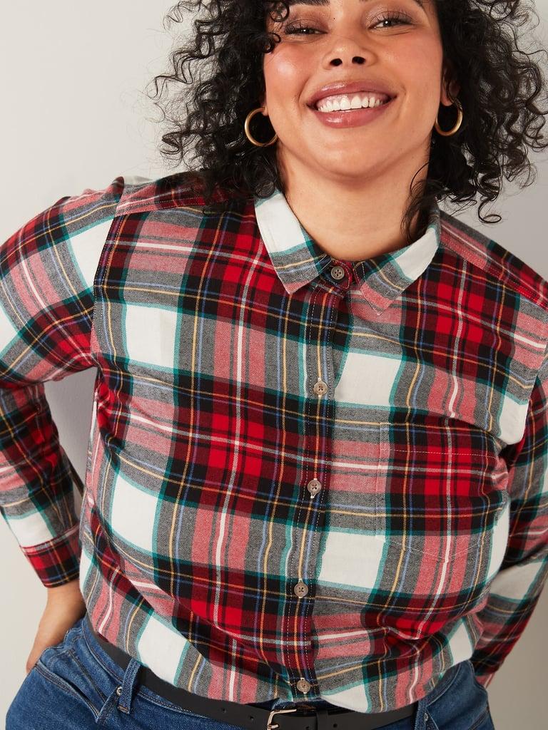 Classic Plaid Flannel No-Peek Shirt