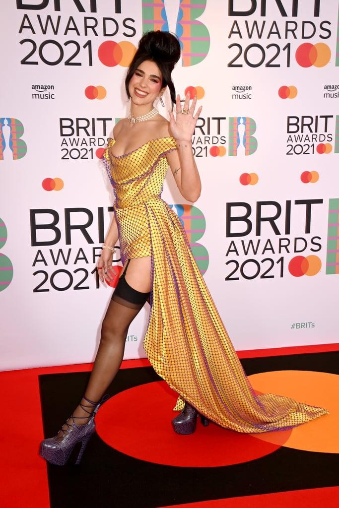 Dua Lipa Wears Vivienne Westwood at the 2021 BRIT Awards