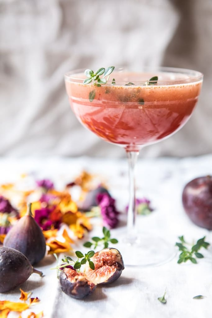 Fig, Honey, and Thyme Prosecco Smash