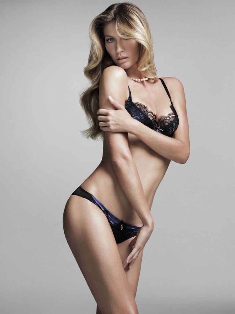 Gisele shows off lacy bras and sexy separates for her second lingerie collaboration with brand Hope.
