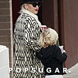 Gwen Stefani took Zuma Rossdale to Starbucks.
