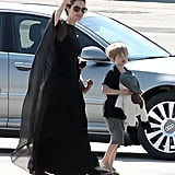 Angelina Jolie traveled to Bosnia with Shiloh for the Sarajevo Film Festival.
