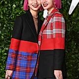 Ami and Aya Suzuki's Matching Magenta Bobs