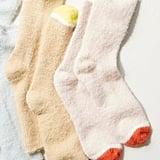 Free People Fuzzy Sparkle Crew Sock