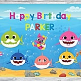 Baby Shark Personalized Backdrop