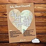 Printable Baby Shower Crossword Puzzle