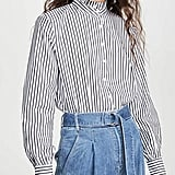 BB Dakota Life Is Ruffle Stripe Top