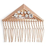 Berry Crystal Triangle Hair Comb ($24)