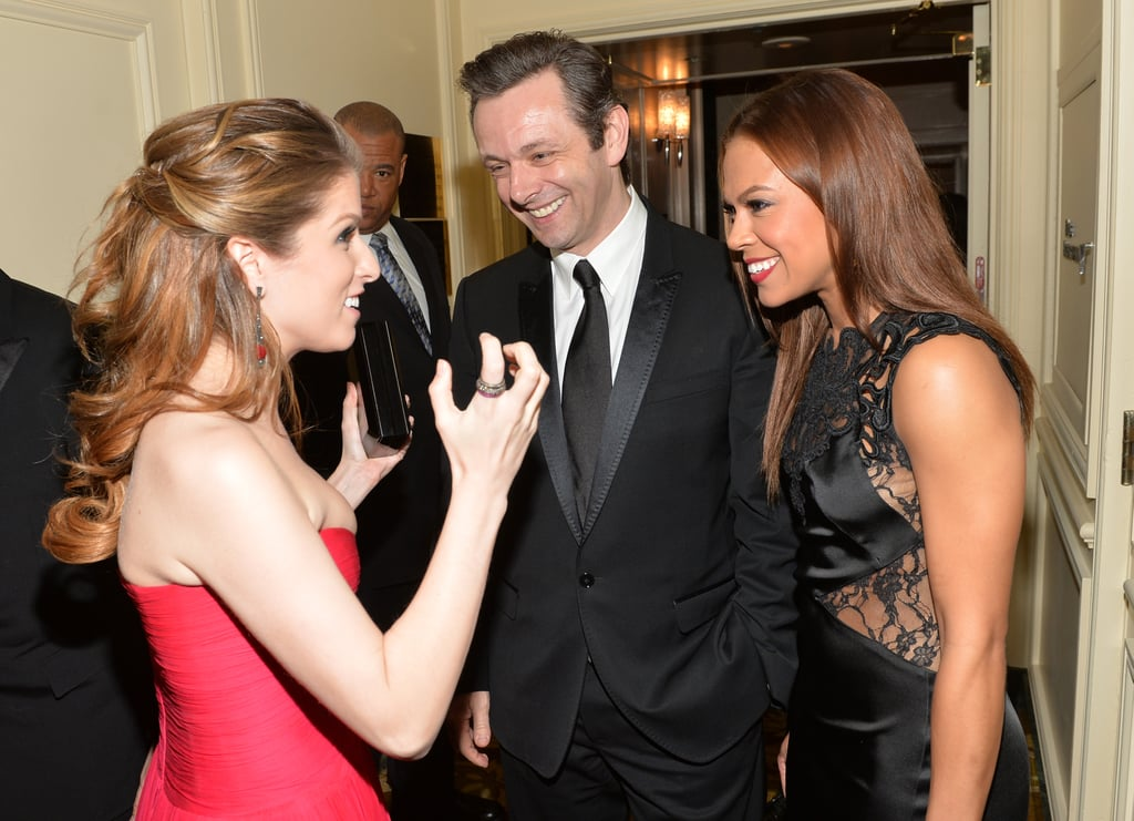 Anna Kendrick got excited with Michael Sheen and Toni Trucks.