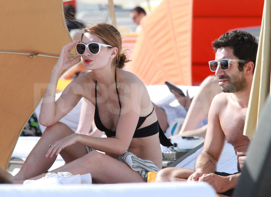 Mischa Barton put her sunglasses on in Miami.