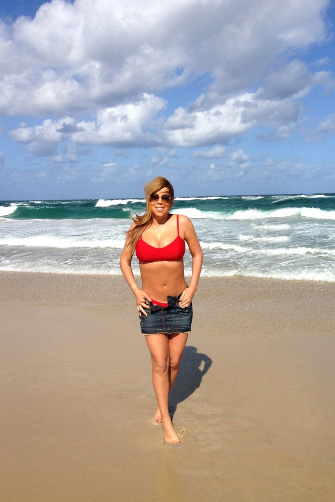 Back in January 2013, Mariah Carey showed off her bikini body on the beach in Australia.