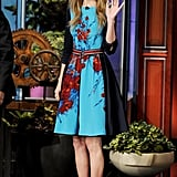 She showed her appreciation for fans while appearing on The Tonight Show With Jay Leno in February 2012.