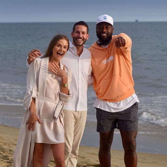 Dwyane Wade Crashes a Couple's Proposal in California